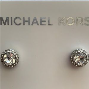 Michael Kors Sterling Silver Brilliance Studs